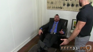 Gay fucking and toe sucking Ricky Larkin is being interviewed for a stance as Hughs