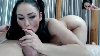 HARD facefuck deepthroat for red lips camwhore slut gag sloppy bitch