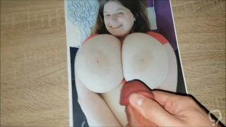 Cum Tribute on Mega Busty Sarah Rae Huge Tits #2
