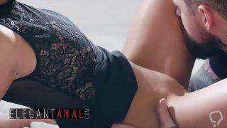 BABES - Elegant Teen Alyssia Kent gets anal cream pied
