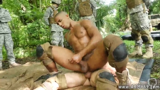 Hottest gay military man porn Jungle plumb fest