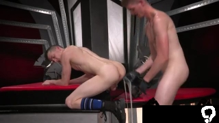 Huge gay dick made ass  first time Slim piggy Axel Abysse leans over and teases Matt