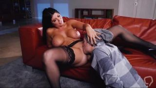 Big tits milf severe sex on the leather couch - XBabe video