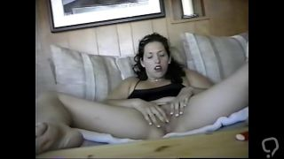 ex carla getting herself on tape for me while I am at work