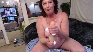 V227 Big finish whipped cream blowjob