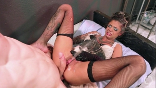 Amazing fuck from her horny master