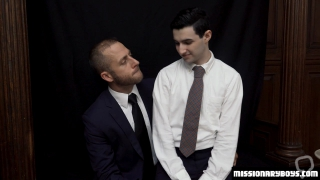 MormonBoyz - Horny Priest Punishes A Young Missionarys Butthole