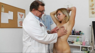 Intense gyno exam for sleazy Karen