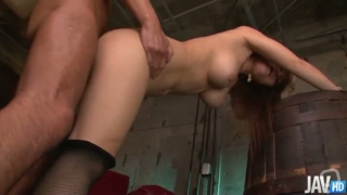 Beautiful Nene Azami is on her knees gobbling cock and has her pussy banged