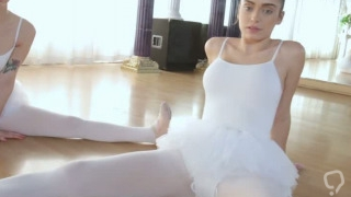 Hot ballerina teens trained to fuck by their instructor