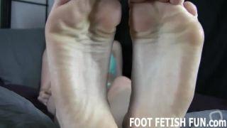 POV Foot Fetish And Femdom Footjob Porn