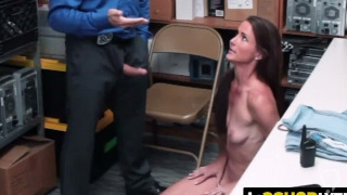 Sofie Marie is coerced by officer into taking his hard cock