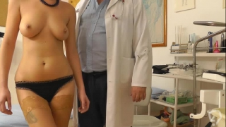 Full gyno exam for dashing milf