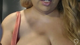Busty Beauty Wrapped In Strappy Webcam Show