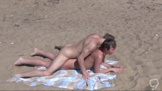 Great beach fuck between horny couple
