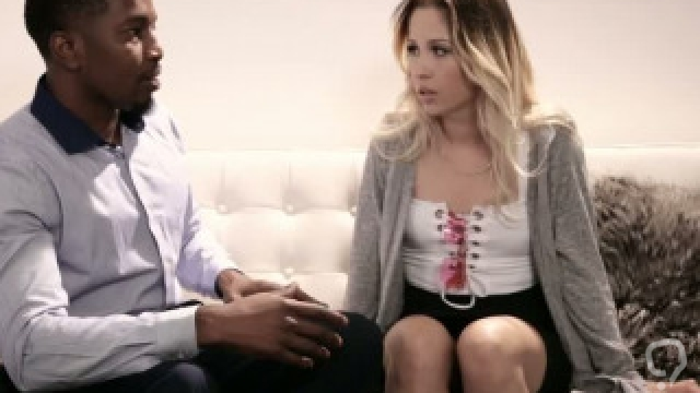 Young wife takes revenge on husband with a black guy