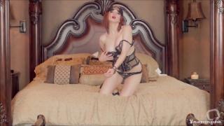 Bedroom's Horny Redhead Fantasizing Music Video