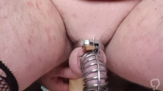 Big dildo and chasitiy
