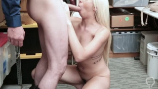 Hairy big tits brunette MILF fucked by a bad policeman