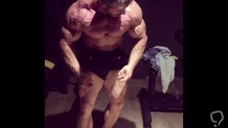 Ripped Bodybuilder Flexing