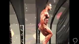 Russian Bodybuilder Flexes on Stage - Igor Z.