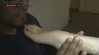 VERY HOT Blonde Sexy Feet Worshipped at Foot Party