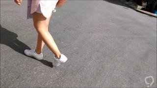 Shiny Pantyhose and Mini Skirt