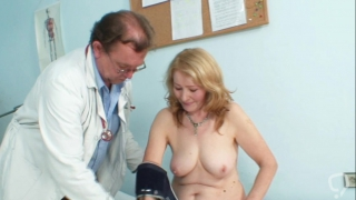 Full exam for busty mature