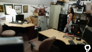 Ghetto babe with big tits fucked in pawn shop for dmoney