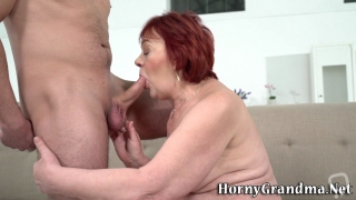 ginger gilf mouth jizzed mature