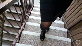 Ebony in Blck Fishnet