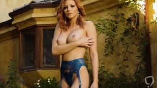Erotic busty babes enjoyed posing at a photo session