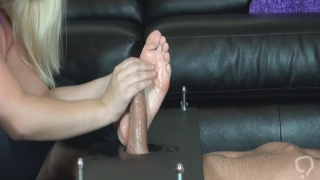 Girl feet and a big cock