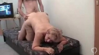 Blonde woman hardcore sex with wild man