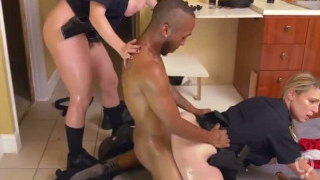 Cumshot fail Black Male squatting in home gets our mummy officers squa