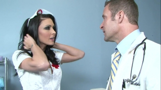 Wild fuck with the busty nurse