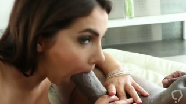 Black cock fits in her asshole