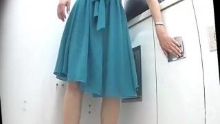 Subway station toilet hidden cam