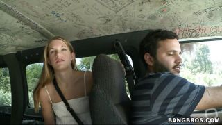 Blonde Babe Gets In The Bang Bus