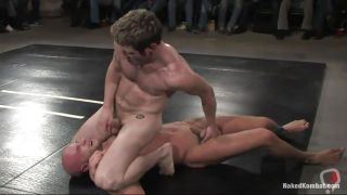 Naked Guys Wrestling Over Domination