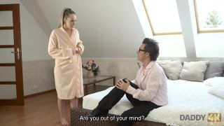 DADDY4K. Guy can't believe modest babe has sex with crazy old father