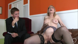Busty mature is in for a black surprise