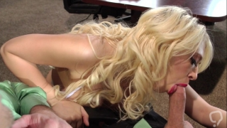 Strong adventure with her greedy boss