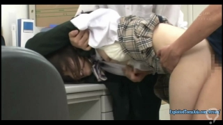 Hinagiku Tsubasa Caught Shoplifting Taken To the Office And Punished Fucked In Front Of Workers