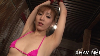 horny asian gets wet with dildo movie