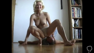 Lucky dude gets face farted by his mistress
