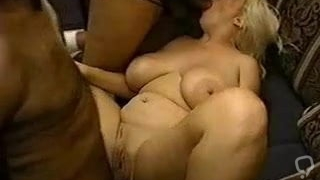 Enormous busty blonde interracial banged