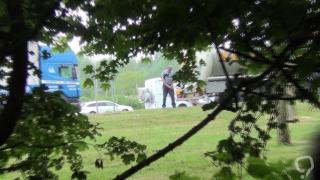 Truckers Peeing in Public 49