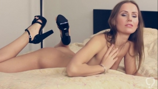 Outstanding masturbation by slim Sabrina