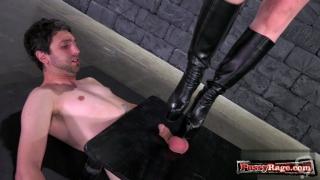 hot pornstar ballbusting with cumshot film